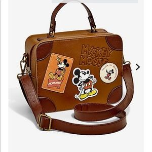 NWT loungefly Mickey Mouse luggage shoulder bag
